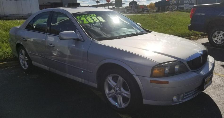 2002 Silver Lincoln LS (1LNHM87A62Y) with an 3L NA V8 double overhead cam (DOHC) 32V engine, 5-Speed Automatic transmission, located at 341 N White Horse Pike, Lawnside, NJ, 08045, 888-696-1165, 39.855621, -75.027451 - Photo #0
