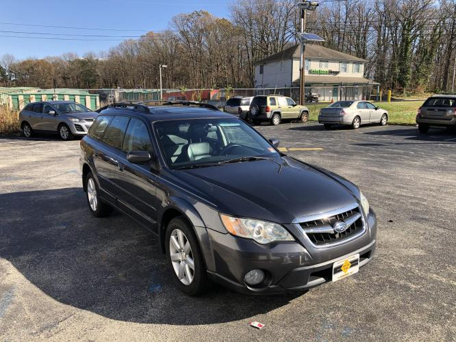 2008 Gray Subaru Outback (4S4BP62C787) with an 4-Cyl, 2.5 Liter engine, Automatic, 4-Spd w/SportShift transmission, located at 341 N White Horse Pike, Lawnside, NJ, 08045, (888) -696, 39.855621, -75.027451 - Photo #0