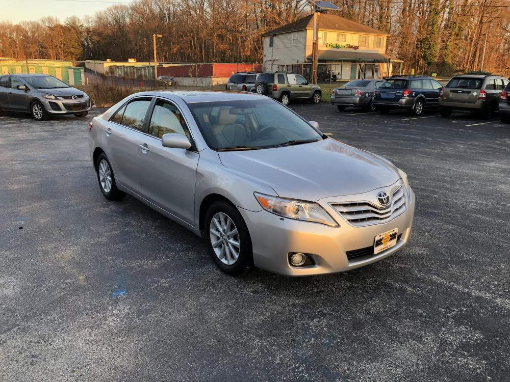 2010 Silver Toyota Camry (4T1BF3EK5AU) with an 4-Cyl, 2.5 Liter engine, Automatic, 6-Spd w/Overdrive transmission, located at 341 N White Horse Pike, Lawnside, NJ, 08045, (888) -696, 39.855621, -75.027451 - Photo #0