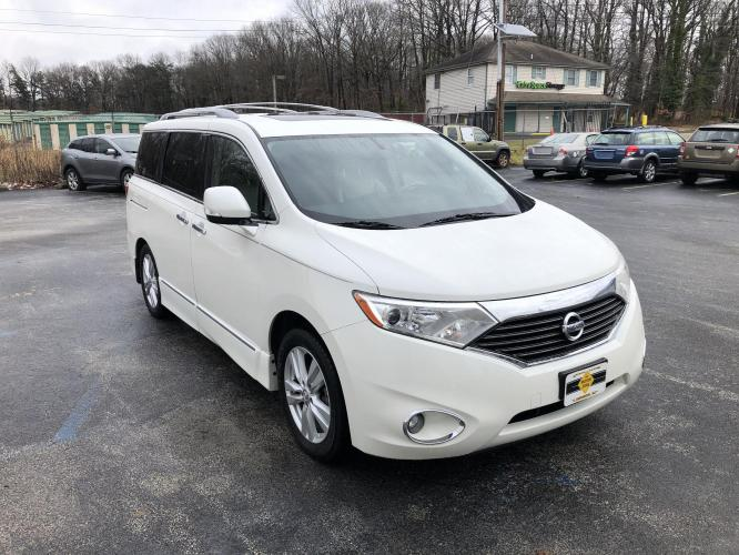 2012 White Nissan Quest (JN8AE2KP1C9) with an V6, 3.5 Liter engine, Automatic, CVT transmission, located at 341 N White Horse Pike, Lawnside, NJ, 08045, 888-696-1165, 39.855621, -75.027451 - Photo #0